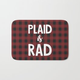 Plaid is Rad Bath Mat