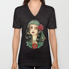 Gipsy tattoo Unisex V-Neck