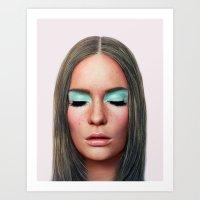 makeup Art Prints featuring Makeup by Rachel De Vita