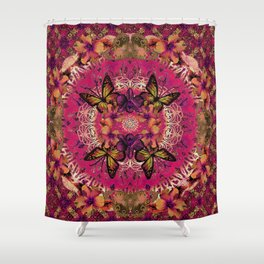 Victoria Mandala Collage Shower Curtain