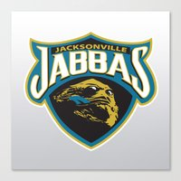 nfl Canvas Prints featuring Jacksonville Jabbas - NFL by Steven Klock