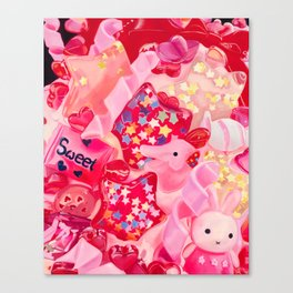 Pink, Plastic & Proud Canvas Print
