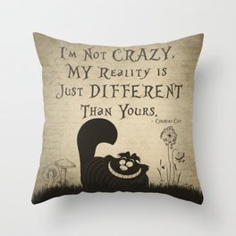 Cheshire Cat Throw Pillow