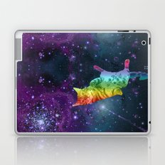 Rainbow Kitty Floating in Space Laptop & iPad Skin