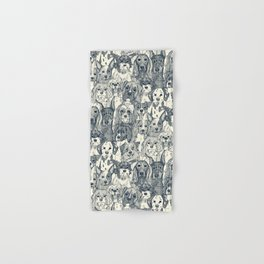 dogs aplenty indigo pearl Hand & Bath Towel