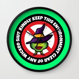 No Wicked Shit Wall Clock