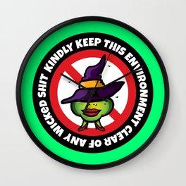 No Wicked Shit Wall Clock