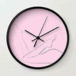 Pink Lady Legs Wall Clock
