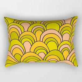 surfboard quiver 70s wallpaper dreams Rectangular Pillow
