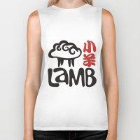 lamb Biker Tanks featuring Lamb by biblebox