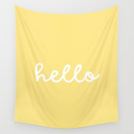 HELLO YELLOW Wall Tapestry