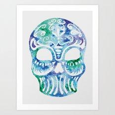 Watercolor Dia de la Mortes Art Print