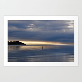 Sunbeams on the bay Art Print