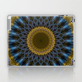 Mandala in golden and blue tones Laptop & iPad Skin
