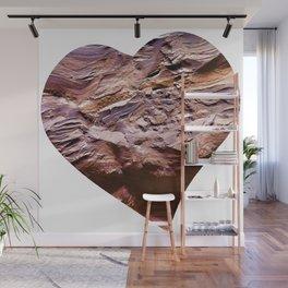Heart Shape Stone Art Wall Mural