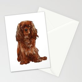 Cavalier King Charles Spaniel - Ruby Stationery Cards