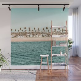 Vintage Newport Beach Print {1 of 4} | Photography Ocean Palm Trees Teal Tropical Summer Sky Wall Mural