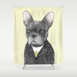Hard Rock French Bulldog Shower Curtain