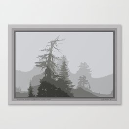 MOUNTAIN HEMLOCK SILHOUETTES IN THE CLOUDS Canvas Print