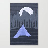camping Canvas Prints featuring Camping by Illusorium