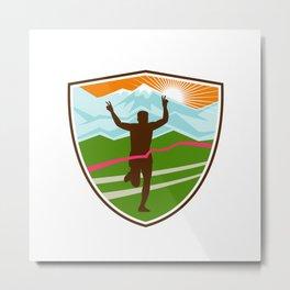 Victorious  Marathon Runner Shield Metal Print
