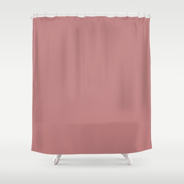 Old Rose Solid Color Shower Curtain by 11penguingirl | Society6