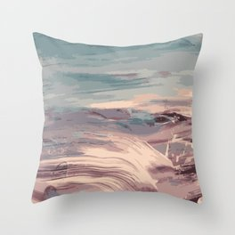 Abstract Sunset Beach Waves Throw Pillow