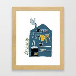 Sauna Framed Art Print