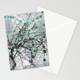 Abstract Gemstone and  Malachite Tree Stationery Cards