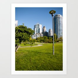 Path Through the Park Art Print