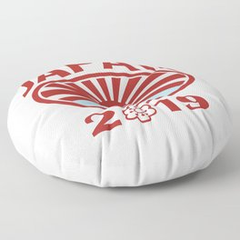 Japan 2019 Rugby Oval Ball Retro Floor Pillow