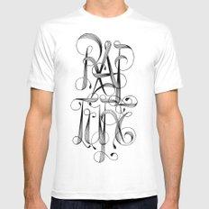 Rapture White Mens Fitted Tee MEDIUM