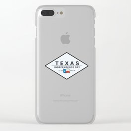 Texas Independence Dy Clear iPhone Case