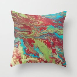 Psychedelic Collection Throw Pillow