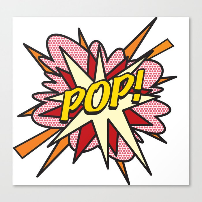 Comic Book Pop Art POP! Canvas Print