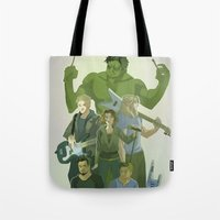 band Tote Bags featuring Band by cycloalkane