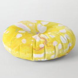 speckled marble | yellow Floor Pillow