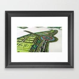 Dubai Park Concept Angled Framed Art Print