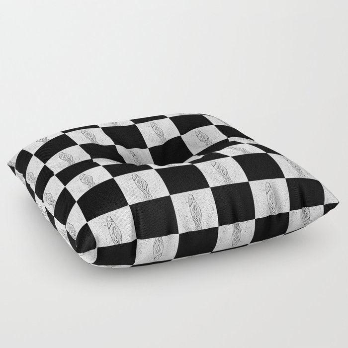 Checkerboard Pussy Floor Pillow