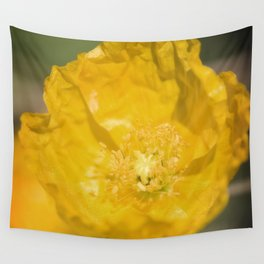 Yellow Poppy Wall Tapestry