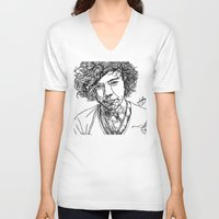 harry styles V-neck T-shirts featuring Harry Styles by Hollie B