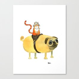 Commander Creamsicle Canvas Print