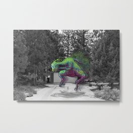 Unseen Monsters of Mount Shasta - Greshlib Tanquid Metal Print