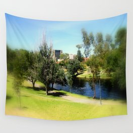 Adelaide Torrens River and CBD Wall Tapestry