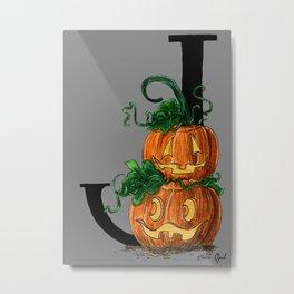 J for Jack-o-lantern Metal Print