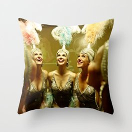 1950's Showgirls Throw Pillow