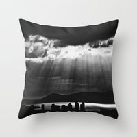skyline Throw Pillows featuring Skyline by ArtBite