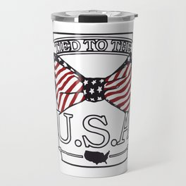 Tied to the USA Fourth of July T-shirt Travel Mug