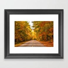 Road to Fall Framed Art Print
