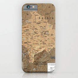 Map Of Kosovo 1999 iPhone Case